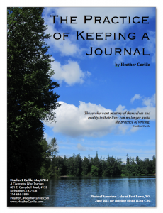 The Practice of Keeping a Journal