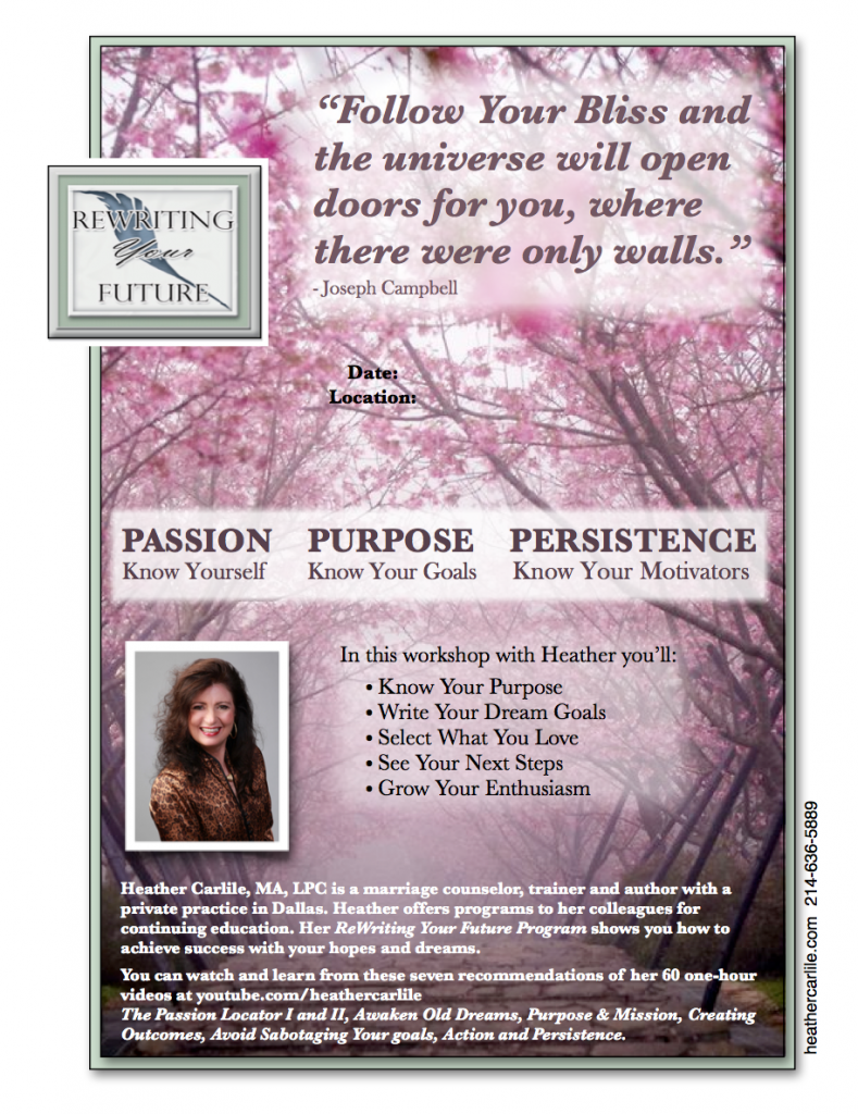 PASSION - PURPOSE - PERSISTENCE Workshop Know Yourself - Know Your Goals - Know Your Motivators