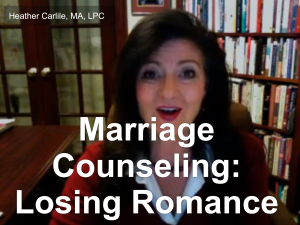 Marriage Counseling: Losing Romance Broadcast