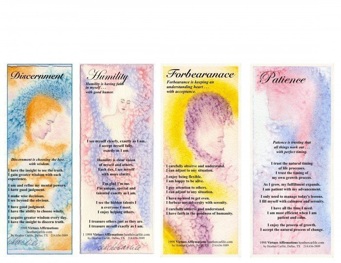 Virtue Bookmarks 1