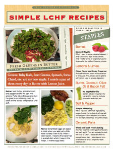 """Heather's """"Simple LCHF Recipe Booklet."""""""