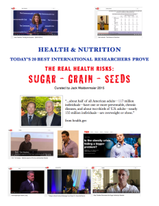 17-page Paper on the 20 Doctors, Researchers and Scientists from around the world who prove the healing and healthy benefits of Low Carbohydrate High Fat foods.